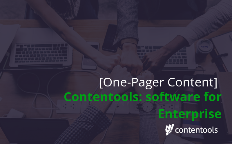 Contentools – The Content Marketing Software for Enterprise